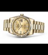 Rolex Day-Date 118238 Swiss Automatic Watch Golden Dial Presidential Bracelet 36MM