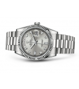 Rolex Day-Date 118239 Swiss Automatic Watch Silver Dial Presidential Bracelet 36MM
