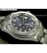 Rolex Yachtmaster II Swiss ETA-Blue Dial White Dot markers-Stainless Steel Oyster Strap