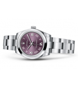 Rolex Oyster Perpetual 177200 Swiss Automatic Watch Red Grapes 31MM