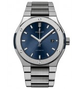 Hublot Classic Fusion Automatic Watch Blue Dial 585.NX.7180.NX 42mm