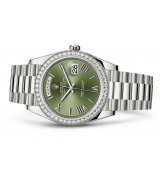 Rolex Day-Date 228349 Swiss Automatic Watch Diamonds Bezel 40MM