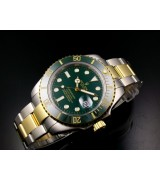 Rolex Submariner 116610LV-1Automatic 18k Gold-Green Luminous Dial-Stainless Steel Strap