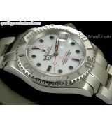Rolex Yachtmaster II  Swiss ETA-White Dial White Dot markers-Stainless Steel Oyster Strap
