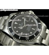 Rolex Submariner Classic 2008 Swiss Automatic ETA Watch-Black Dial-Stainless Steel Oyster Bracelet