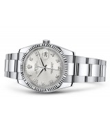 Rolex Oyster Perpetual Date 115234-0012 Swiss Automatic Silver Dial 34MM