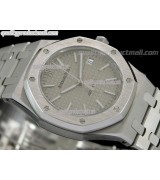 Audemars Piguet Royal Oak Jumbo Automatic Watch-Grey Checkered Dial Index Hour Markers-Stainless Steel Bracelet