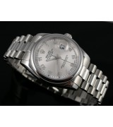 Rolex Datejust E743 Automatic-Silver Dial Number Markers-Stainless Steel Strap