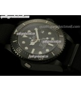 Rolex Sea Dweller Deep Sea Pro Hunter Automatic Watch-Black Dial White Dot Markers-NATO Strap