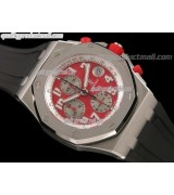 Audemars Piguet Royal Oak Offshore Rhone Fusterie Limited Edition Chronograph-Red Textured Dial-Black Rubber Strap