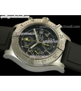 Breitling Skyland Avenger Chronograph-Grey Dial Grey Subdials Yellow needles-Diver's Rubber Strap