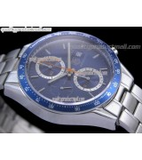 Tag Heuer Carrera 41MM Automatic Chronograph-Blue Dial, Silver Ring subdials-Stainless Steel Bracelet
