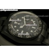 Rolex GMT II Pro Hunter Swiss Automatic Watch-Black Dial-Stainless Steel Oyster Bracelet