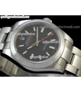 Rolex Milgauss Swiss ETA Automatic Watch-Black Dial Index Hour Markers-Stainless Steel Oyster Bracelet