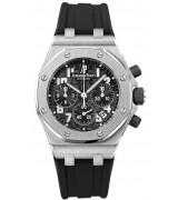 Audemars Piguet Royal Oak Automatic Chronograph 26283ST.OO.D002CA.01-Black Dial Black Rubber Strap