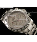 Rolex Daytona Swiss Chronograph-Grey Dial Silver Subdials-Red Chronograph-Stainless Steel Oyster Bracelet