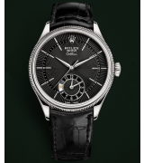 Rolex Cellini Dual Time 50529 Swiss Automatic Watch Black Dial