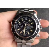 Breitling SuperOcean Swiss Automatic Chronograph-White Hand SS Strap
