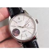 Rolex Cellini Date Swiss 3165 Automatic Watch White Dial 39MM