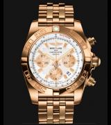 Breitling Chronomat Automatic Chronograph White Dial 44mm