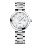 Omega De Ville Ladymatic Automatic Watch White MOP Dial 34mm