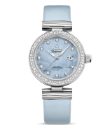 Omega De Ville Ladymatic Automatic Watch Baby Blue MOP Dial 34mm