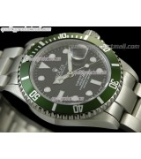 Rolex Submariner Classic 2008 Swiss Automatic Watch-Black Dial-Stainless Steel Oyster Bracelet 40mm