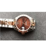 Rolex Datejust Swiss Automatic Watch Women Watch Brown Dial