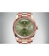 Rolex Day-Date 228235-0025 Swiss Automatic Watch Green Dial Presidential Bracelet 40MM