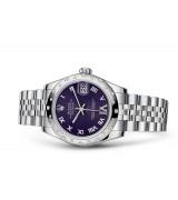 Rolex Datejust Ladies 178344-0002 Swiss Automatic Dark Purple Dial 31MM