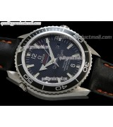 Omega Sea-Master Automatic- Black Dial Black Bezel-Numeral markers-Black Leather Strap
