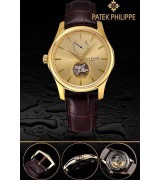 Patek Philippe 2015 Basel Complication Automatic Watch-Yellow Gold Dial-Brown Leather Strap