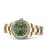 Rolex Datejust Ladies 178278-0131 Swiss Automatic Green Dial 31MM