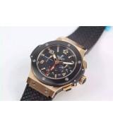Hublot Big Bang Automatic Chronograph-Black Dial-Rose Gold-Ceramic Bezel