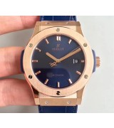Hublot Classic Fusion Automatic Watch 542.OX.7180.LR Blue Dial 42mm