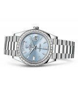 Rolex Day-Date 228396TBR Swiss 3255 Automatic Watch Ice-Blue Dial 40MM