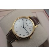 Breguet Classique Gold Swiss 2824 Automatic Man Watch Arabic Numeral