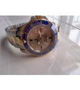 Rolex Submariner Automatic Watch Gray Dial Bi Tone Bracelet