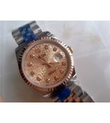Rolex Datejust Automatic Watch Rose Gold Two Toned 36MM