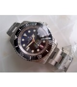Rolex Sea Dweller DeepSea Automatic Watch-Blue and Black Dial White Dot Markers-Stainless Steel Oyster Bracelet