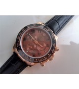 Rolex Daytona Cosmograph Swiss Chronograph Everose Gold Brown Dial