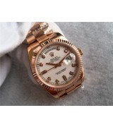 Rolex Day-Date Swiss Automatic Everose Gold Diamonds Markers