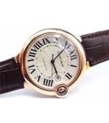 Cartier Ballon Bleu Swiss eta2836 Automatic Watch Rose Gold 42mm
