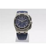 Audemars Piguet Royal Oak Offshore Juan Pablo Montoya Limited Edition Chronograph-Blue Checkered Dial-Blue Leather Strap