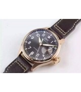 IWC 2016 Big Pilot IW500917 Swiss Automatic Watch-Rose Gold Leather Strap