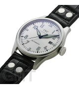 IWC Pilot Father and Son Edition Automatic Watch IW325519-Silver Dial-Black Leather Strap