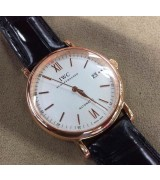 Top Sale IWC Portofino Swiss Genuine 2824-2 Automatic Watch Rose Gold