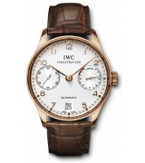 IWC Portuguese 7 Days Swiss Automatic Watch IW500701-Rose Gold Brown Leather