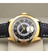 Rolex Cellini Swiss Automatic Watch Yellow Gold-Independent Seconds-Black Dial