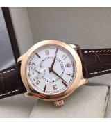 Rolex Cellini Swiss Automatic Watch Rose Gold-Independent Seconds-White Dial